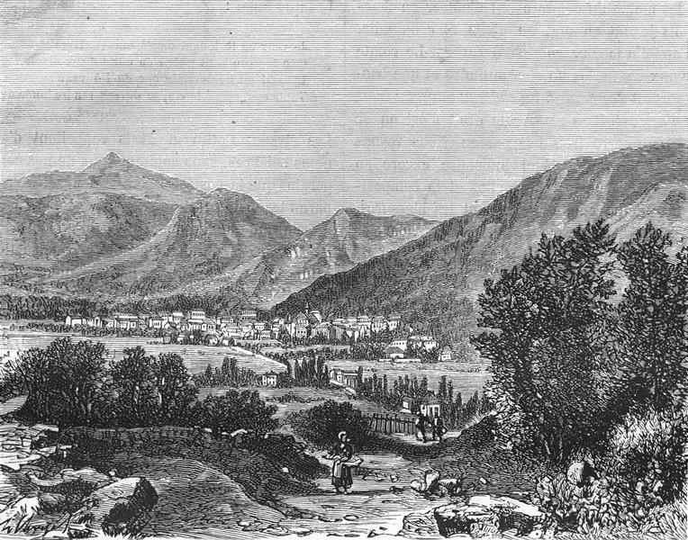 Associate Product HAUTES-PYRÉNÉES. Pyrenees. Bagneres-de-Bigorre 1882 old antique print picture