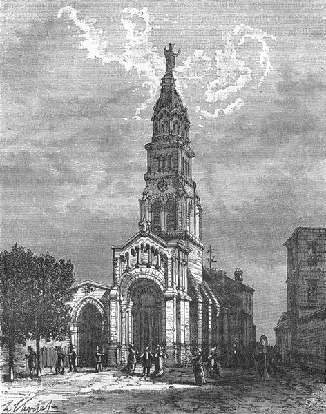 Associate Product RHÔNE. Rhone. Notre-Dame-de-Faurvieres 1883 old antique vintage print picture