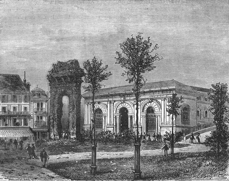 Associate Product SAVOIE. Aix-Bains 1883 old antique vintage print picture