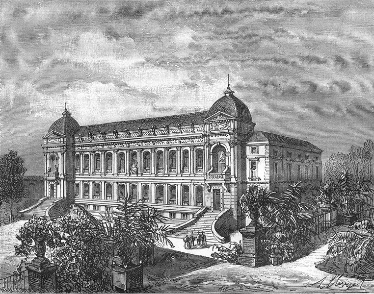 Associate Product PARIS. Seine. Jardin Plantes 1883 old antique vintage print picture