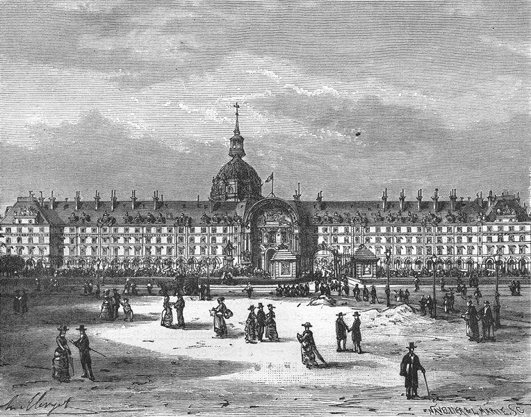 Associate Product PARIS. Seine. Hotel Invalides 1883 old antique vintage print picture