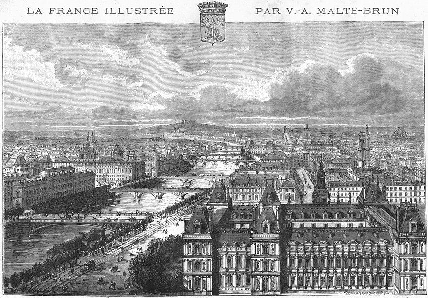 Associate Product PARIS. Prise de Tour St-Gervais 1883 old antique vintage print picture