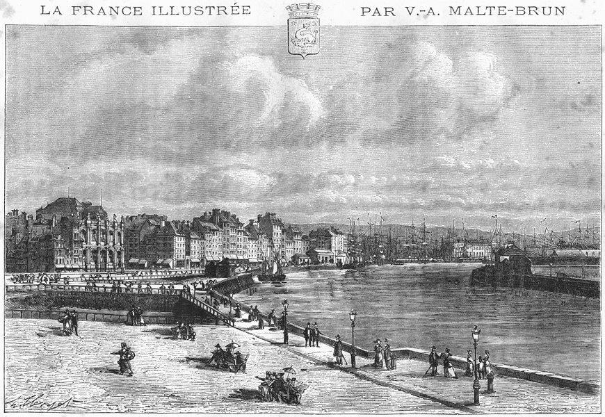 Associate Product SEINE-MARITIME. Le Havre 1883 old antique vintage print picture