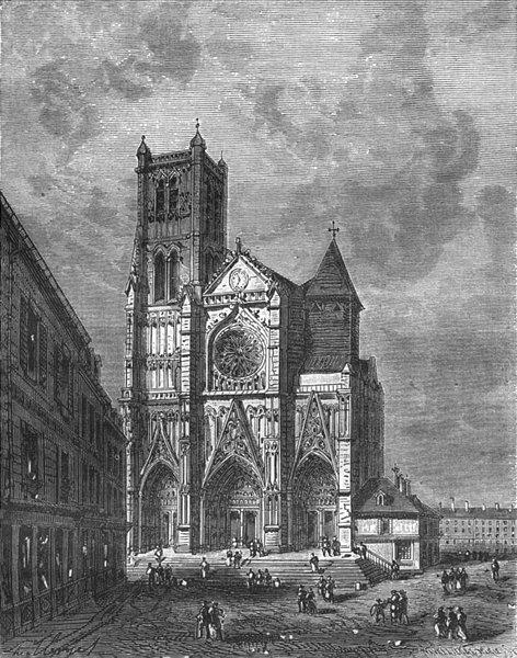 Associate Product SEINE-MARNE. Chathedrale de Meaux 1883 old antique vintage print picture