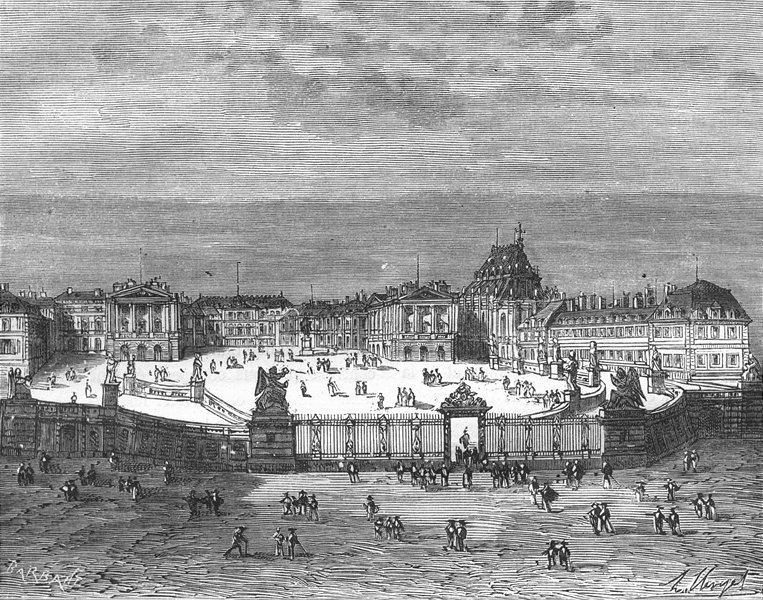 Associate Product YVELINES. Seine-Oise. Chateau de Versailles 1883 old antique print picture