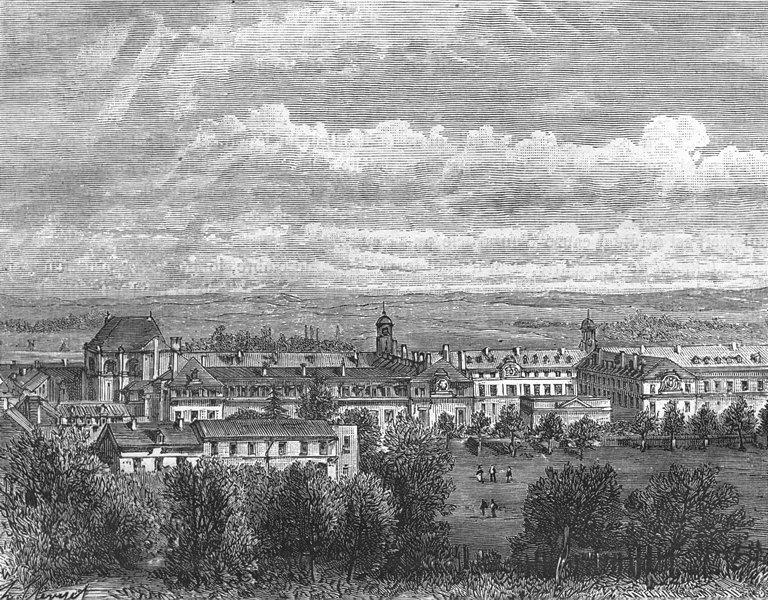 Associate Product VAR. Seine-Oise. St-Cyr 1883 old antique vintage print picture