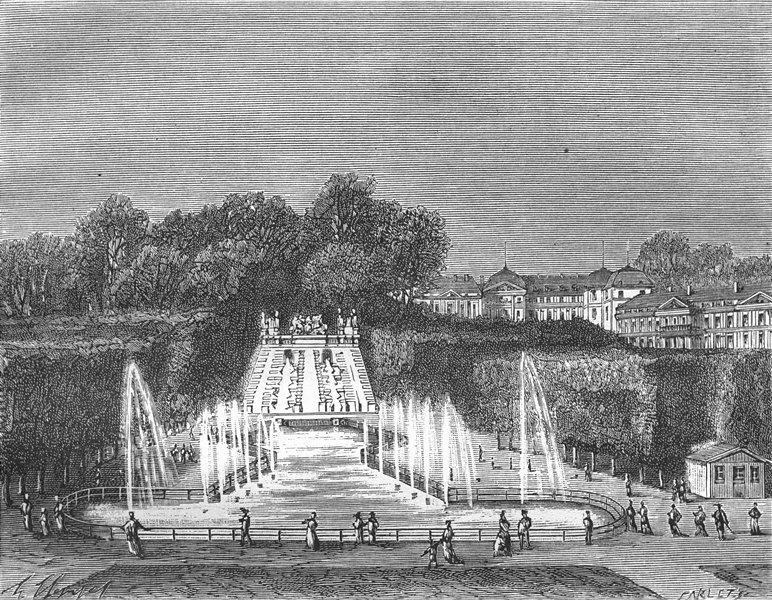 Associate Product HAUTS-DE-SEINE. Oise. Parc St-Cloud 1883 old antique vintage print picture