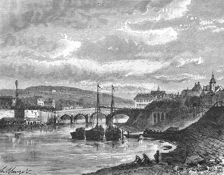 Associate Product ESSONNE. Seine-Oise. Corbeil 1883 old antique vintage print picture