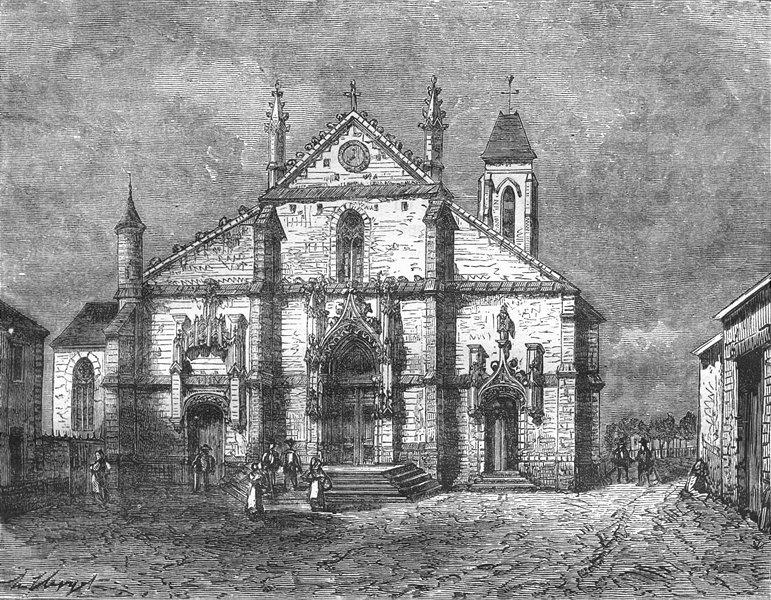 Associate Product ESSONNE. Seine-Oise. Eglise de Longjumeau 1883 old antique print picture