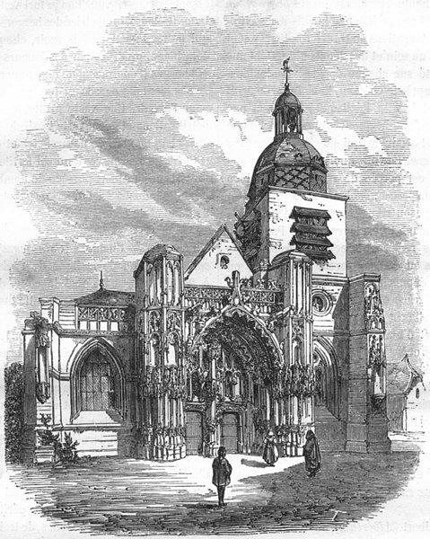 Associate Product SOMME. Eglise St-Pierre, a Montdidier 1883 old antique vintage print picture