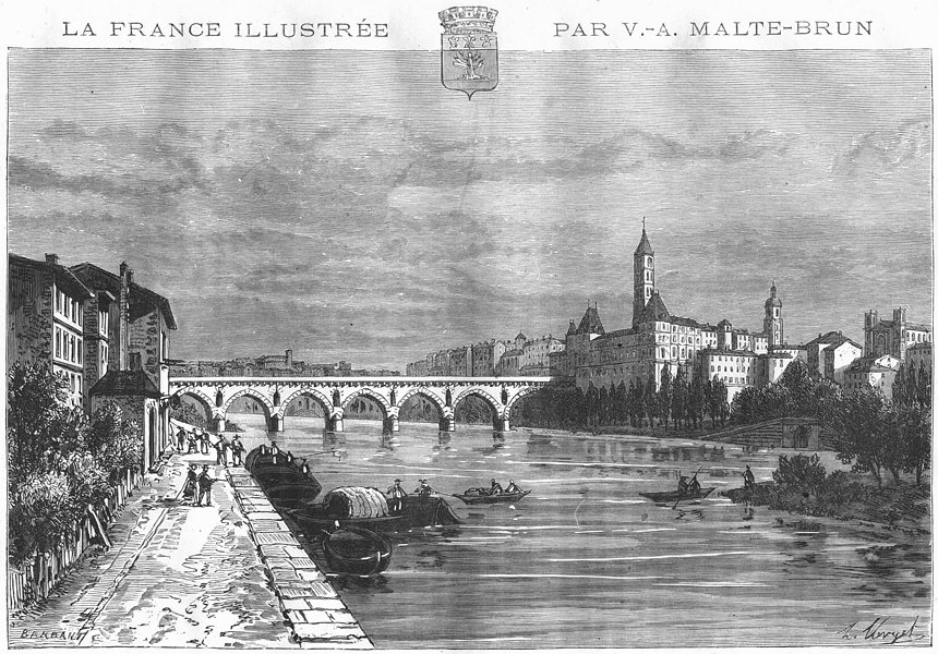 Associate Product TARN-GARONNE. Montauban 1883 old antique vintage print picture