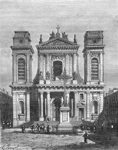 Associate Product TARN-GARONNE. Cathedrale de Montauban 1883 old antique vintage print picture