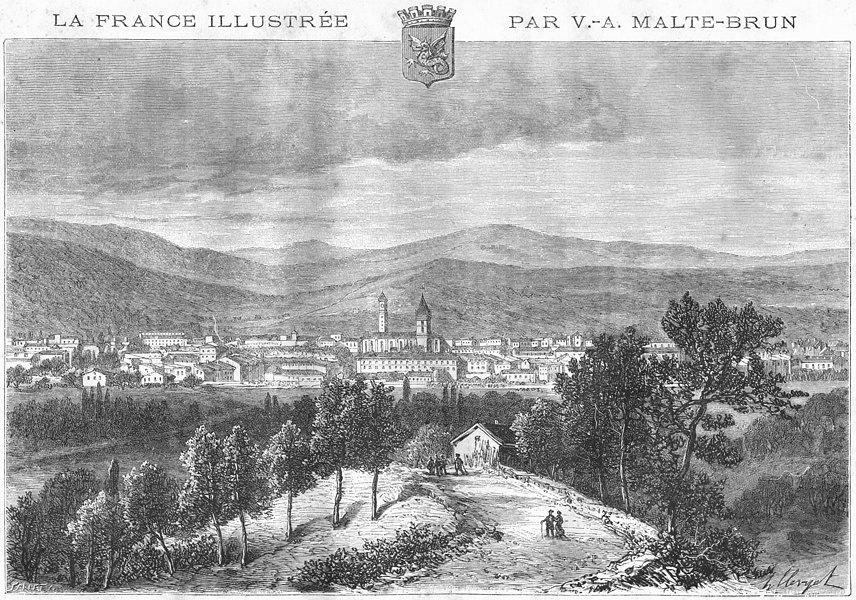Associate Product VAR. Draguignan 1884 old antique vintage print picture
