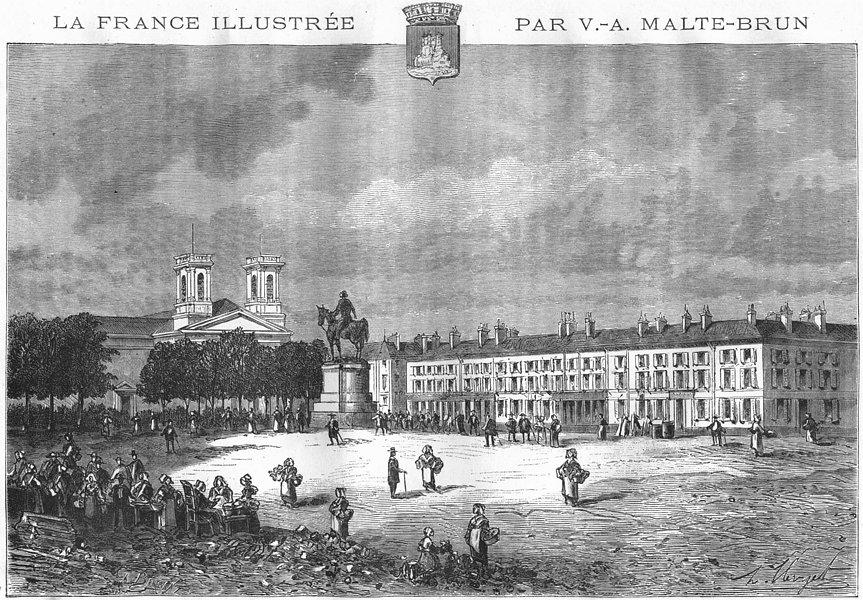 Associate Product VENDÉE. Roche-Sur-Yon 1884 old antique vintage print picture