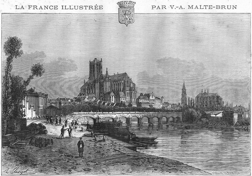 Associate Product YONNE. Auxerre 1884 old antique vintage print picture