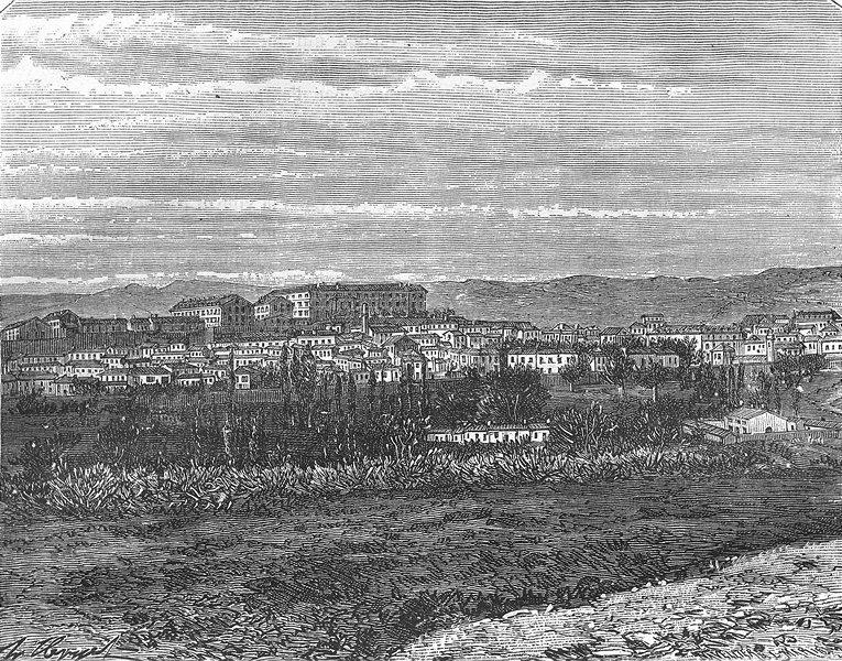 ALGERIA. Algiers. Medea 1884 old antique vintage print picture