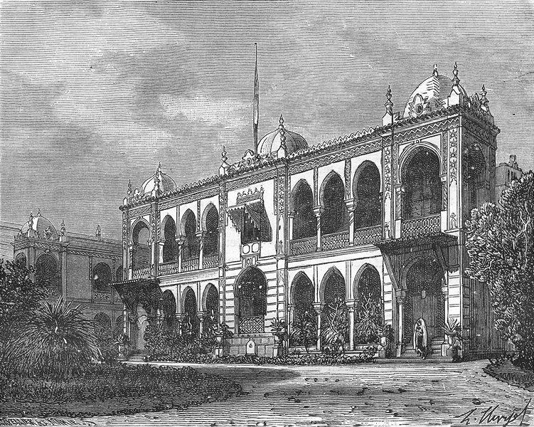 Associate Product ALGIERS. Palais du Gouvernement, a Mustapha 1884 old antique print picture