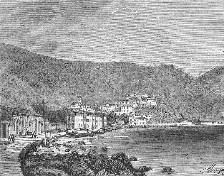 Associate Product ALGERIA. Constantine. Stora 1884 old antique vintage print picture
