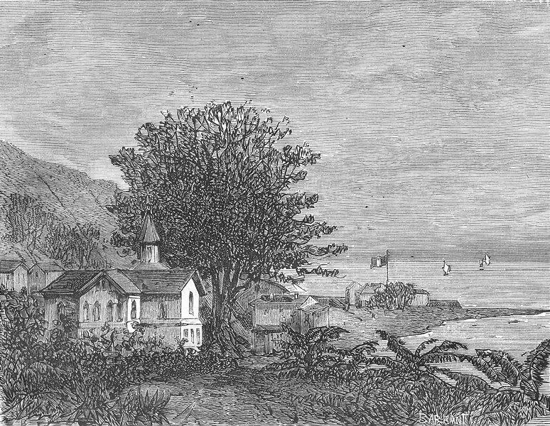 Associate Product CHURCHES. Amerique. Eglise de I'llet--Mere 1884 old antique print picture