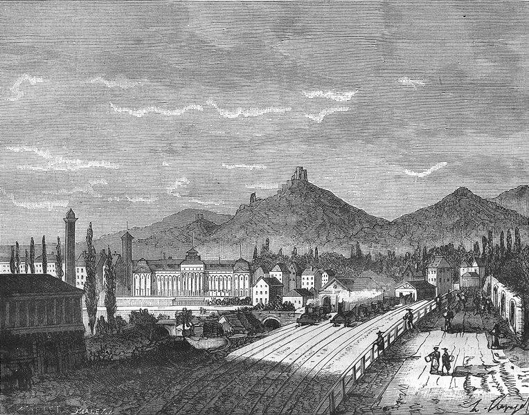 Associate Product BAS-RHIN. Alsace-Lorraine. Chateau de Saverne 1884 old antique print picture