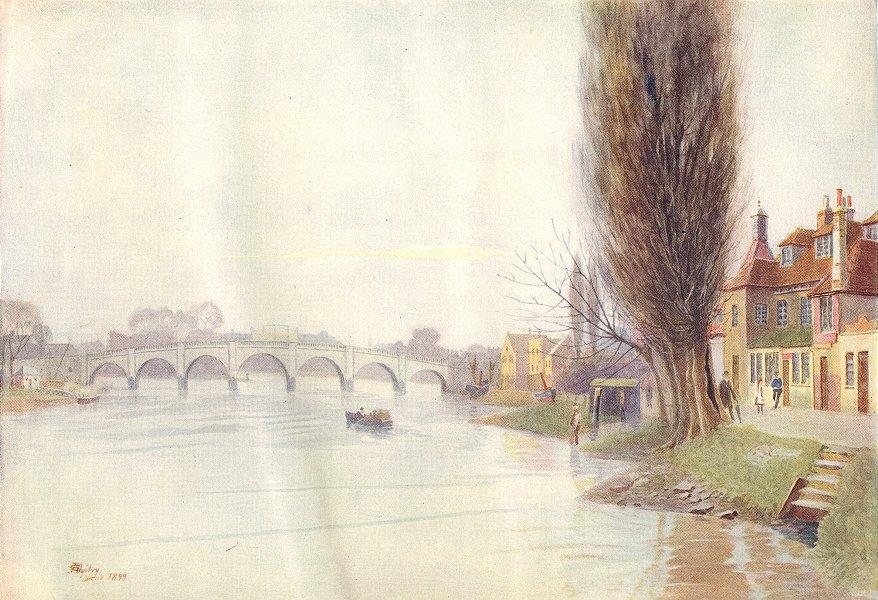 Associate Product KEW. Old Kew Bridge. Surrey 1914 antique vintage print picture