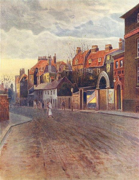 Associate Product RICHMOND-UPON-THAMES. Petersham Road. Surrey 1914 old antique print picture