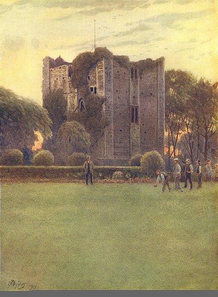 Associate Product GUILDFORD. Guildford Castle. Surrey 1914 old antique vintage print picture