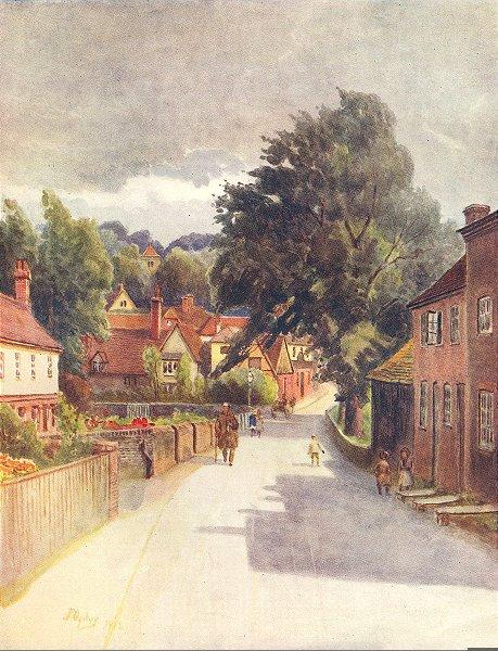 Associate Product SURREY. Puttenham. Surrey 1914 old antique vintage print picture