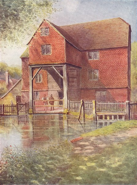Associate Product SHALFORD. Shalford Mill. Surrey 1914 old antique vintage print picture