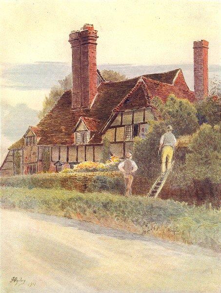 GODALMING. Eashing Farm. Surrey 1914 old antique vintage print picture