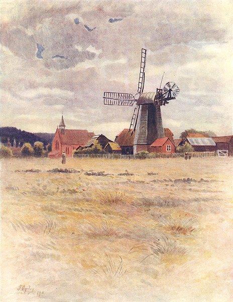 Associate Product CRANLEIGH. Cranleigh Windmill. Surrey 1914 old antique vintage print picture