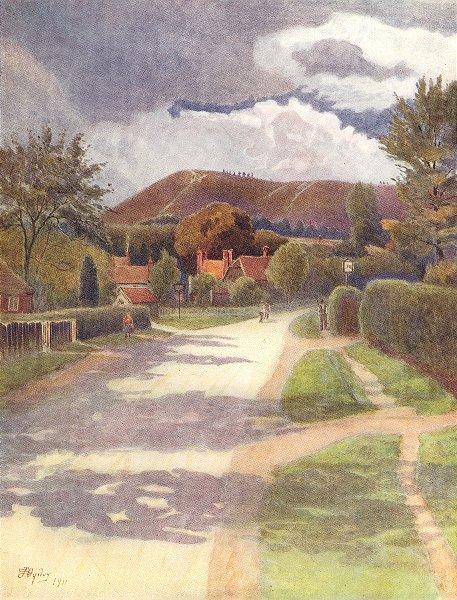 Associate Product EWHURST. The village. Surrey 1914 old antique vintage print picture