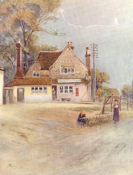 Associate Product EWHURST. The Post Office. Surrey 1914 old antique vintage print picture