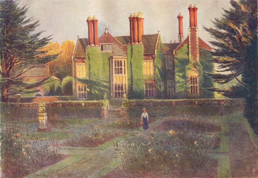 Associate Product BAYNARDS. view from the Rose Garden. Surrey 1914 old antique print picture