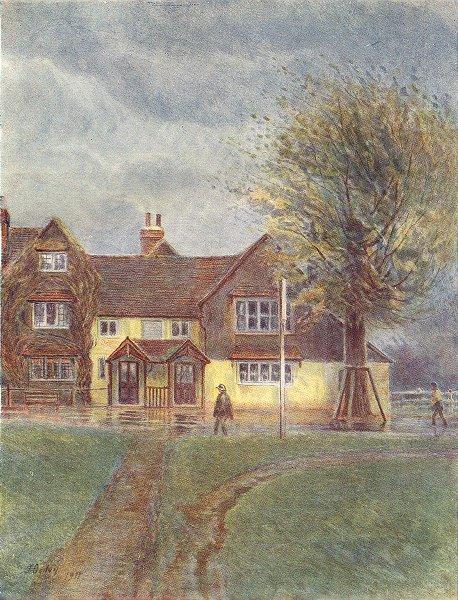 Associate Product ABINGER AN WOTTON. Abinger Hatch Inn. Surrey 1914 old antique print picture