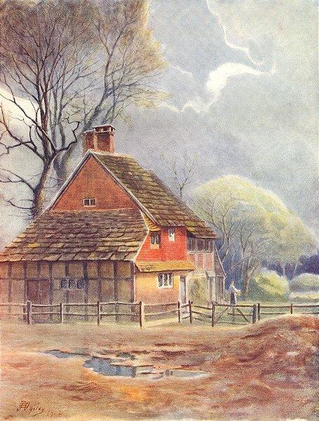 Associate Product OCKLEY. Parklands Farm. Surrey 1914 old antique vintage print picture