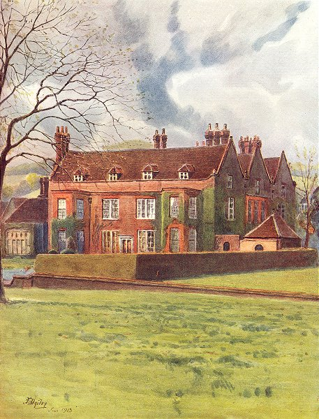 Associate Product OXTED. Barrow Green Court. Surrey 1914 old antique vintage print picture