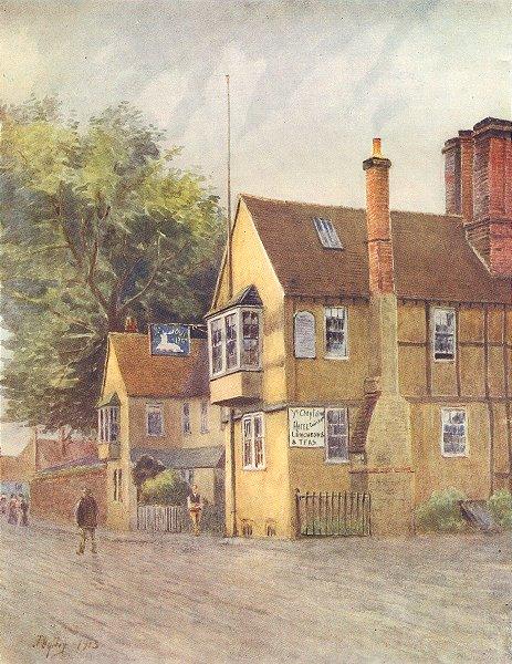 Associate Product GODSTONE. The White Hart. Surrey 1914 old antique vintage print picture