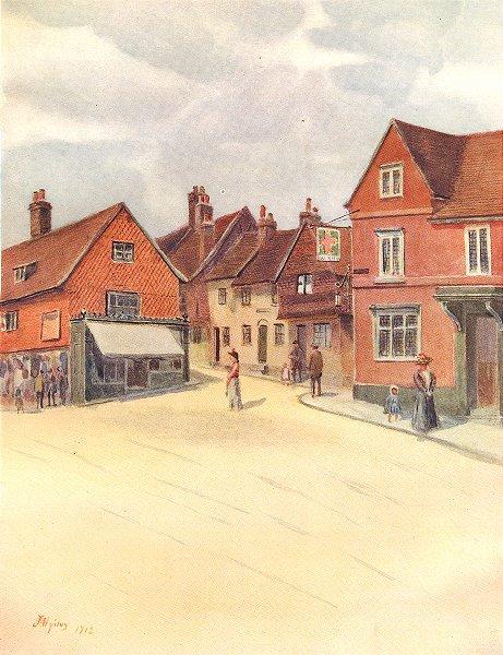 Associate Product REIGATE. Slipshoe Street. Surrey 1914 old antique vintage print picture