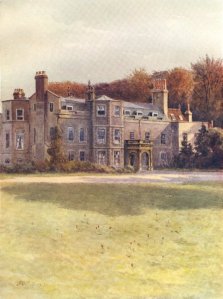 Associate Product HALING PARK. Haling House. Surrey 1914 old antique vintage print picture