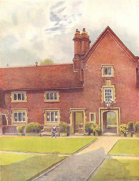 Associate Product CROYDON. Whitgift Hospital. Surrey 1914 old antique vintage print picture