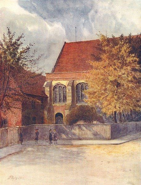 Associate Product CROYDON. The Archbishop's Palace. Surrey 1914 old antique print picture