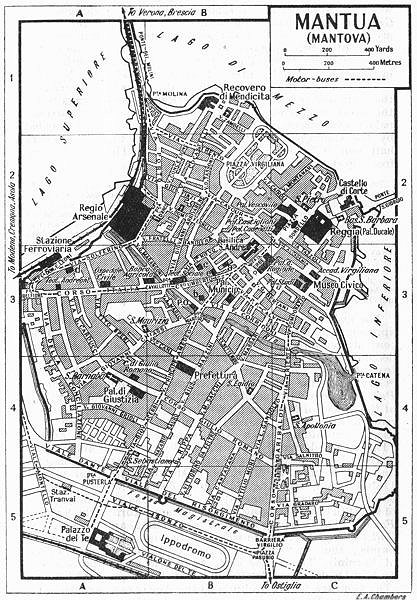 Associate Product MANTUA town/city plan. Italy 1953 old vintage map chart