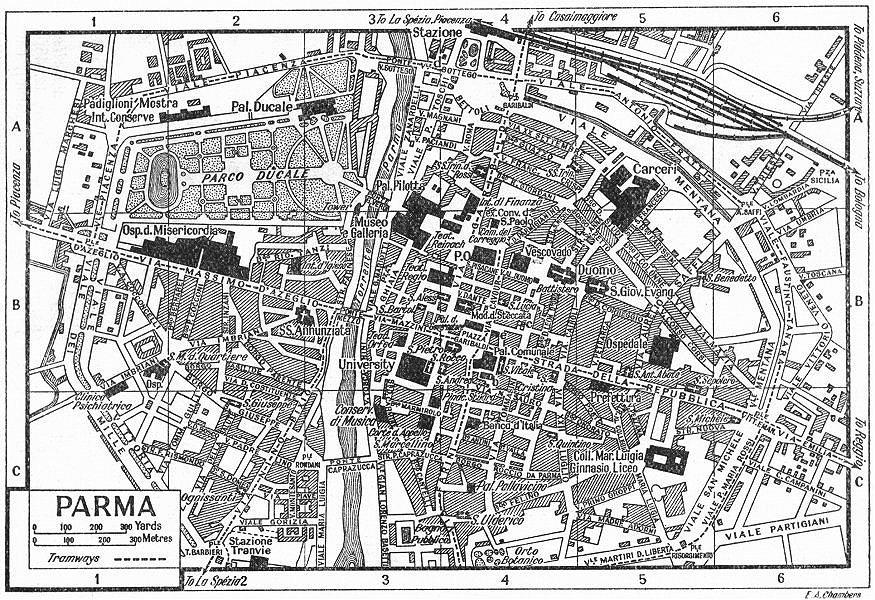 ART PRINT POSTER MAP OLD CITY PLAN ROME ITALY JOHN SENEX NOFL0672
