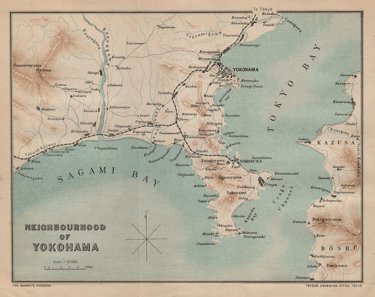 Associate Product JAPAN. Yokohama 1907 old antique vintage map plan chart
