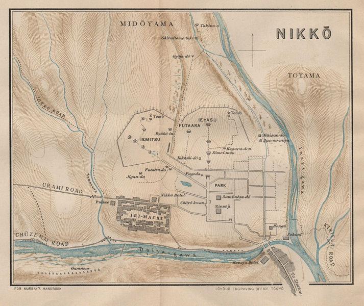 Associate Product JAPAN. Nikko 1907 old antique vintage map plan chart