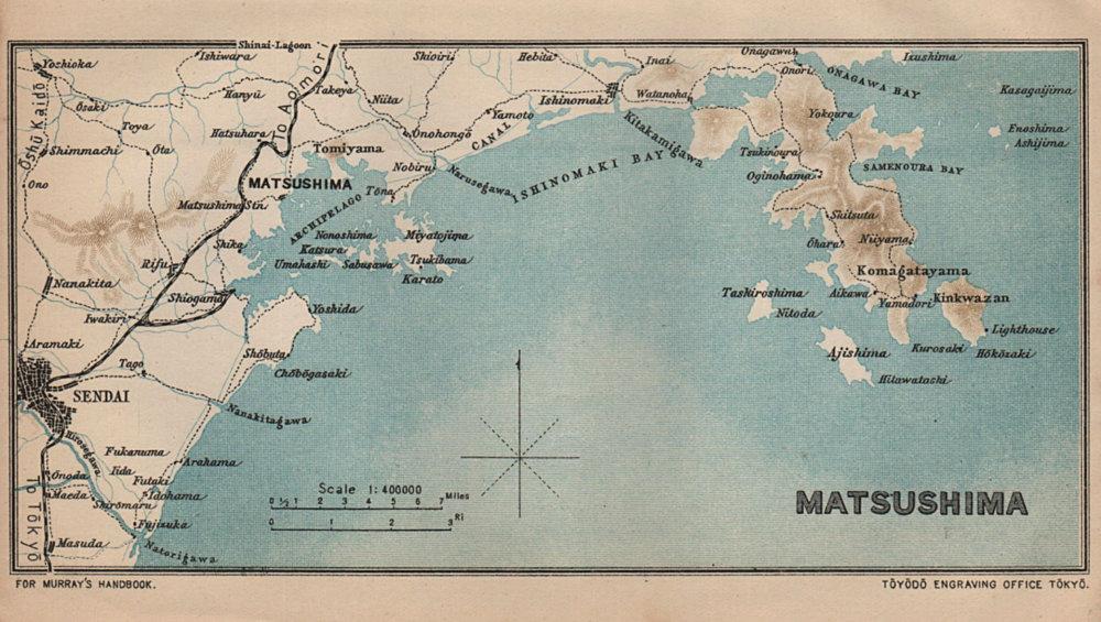 Associate Product JAPAN. Matsushima 1907 old antique vintage map plan chart