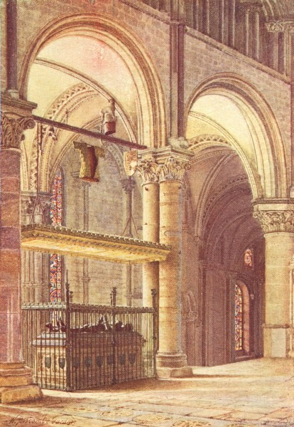 Associate Product CANTERBURY. Edward Black Prince's Tomb Trinity 1924 old vintage print picture