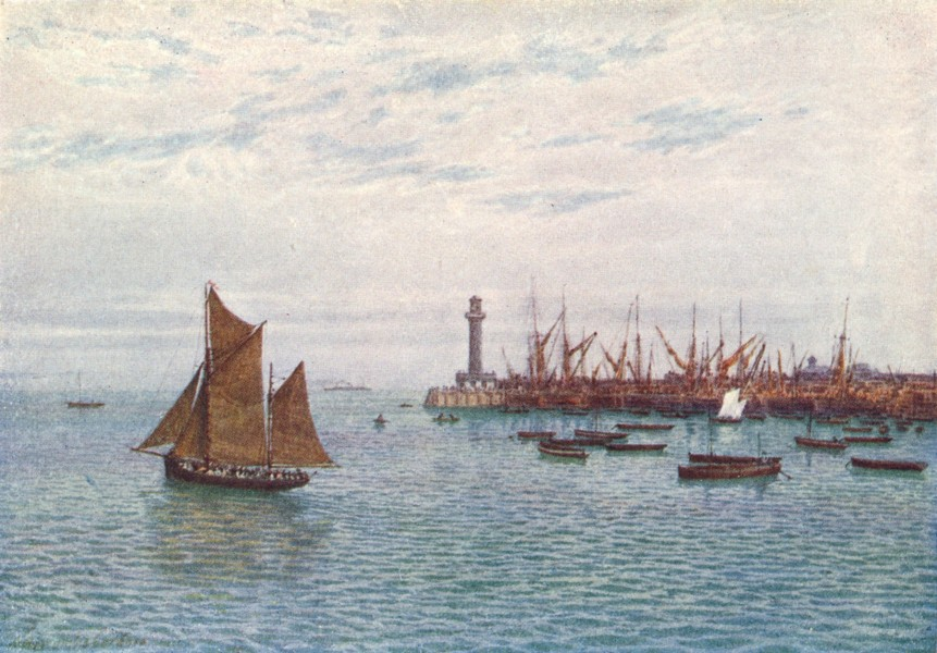 Associate Product KENT. Margate Harbour 1924 old vintage print picture