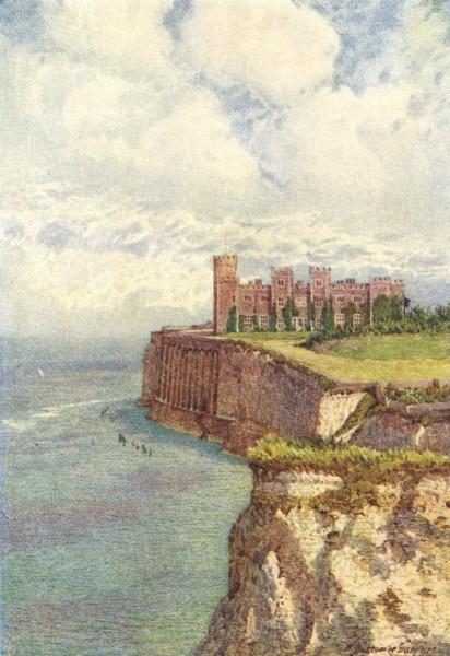 Associate Product KENT. Kingsgate Castle west 1924 old vintage print picture